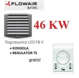 FLOWAIR nagrzewnica wodna 46,8 KW LEO FB 45 V konsola i regulator TS  gratis