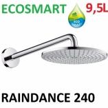 Głowica deszczowa Raindance Air Ø 240 mm DN15 chrom scienna