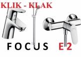 HANSGROHE ZESTAW FOCUS E2 umywalkowa KLIK KLAK + natryskowa + crometta