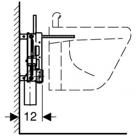 GEBERIT Kombifix - element montażowy do bidetu