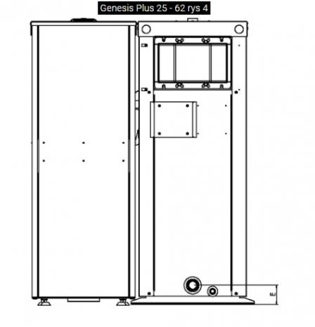 GALMET Genesis Plus KPP Ekologiczny kocioł z podajnikiem, na pellet - 5 klasa, EcoDesign 20KW
