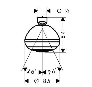 Głowica prysznicowa Crometta 85 1jet Green DN15 chrom