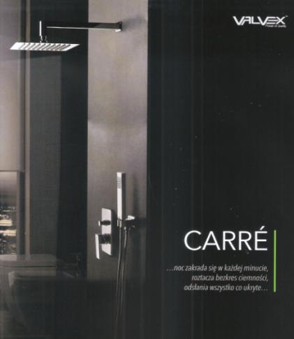 VALVEX zestaw natryskowy podtynkowy z deszczownicą CARRE