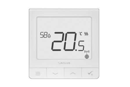 SALUS Ultra-cienki regulator z czujnikiem wilgotności, 230V