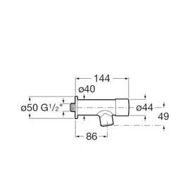 ROCA Sprint - Bateria umywalkowa ścienna czasowa na wodę zmieszaną Sprint-N