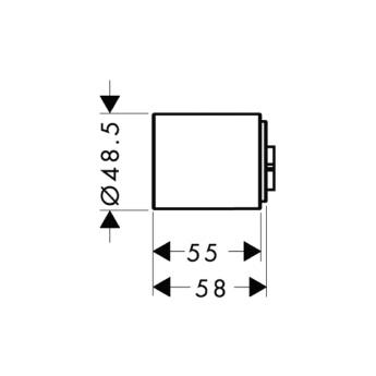 Axor Starck Zestaw przedłużający do modułu z termostatem