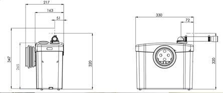 Pompa rozdrabniająca SFA Sanibroyeur Silence WC