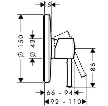 Talis Classic Jednouchwytowa bateria prysznicowa DN15 montaż podtynkowy, element  zewnętrzny chrom