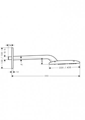 Głowica prysznicowa Raindance E 420 AIR 1jet DN 15 z ramieniem prysznicowym 385 mm chrom