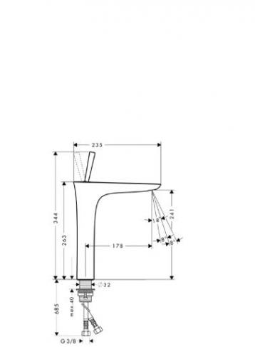 PuraVida  Jednouchwytowa bateria umywalkowa do misek umywalkowych BIALY / CHROM