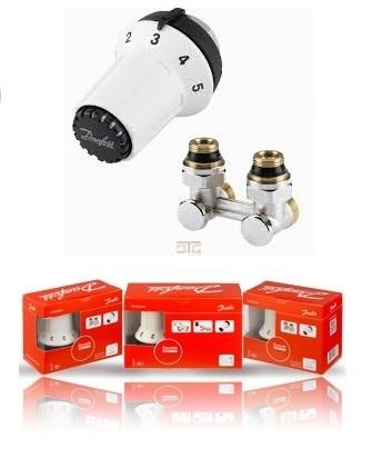 DANFOSS PANDA zestaw termostatyczny głowica + moduł kątowy