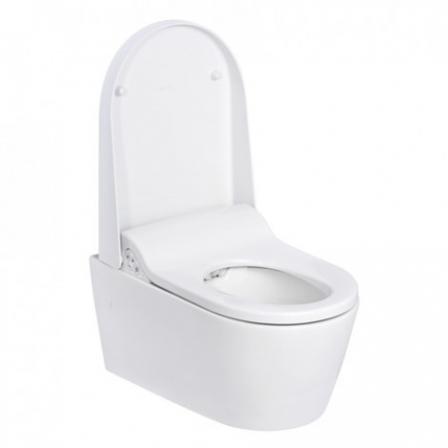 GEBERIT AQUACLEAN SELA MISKA WC+BIDET Biały-Alpin