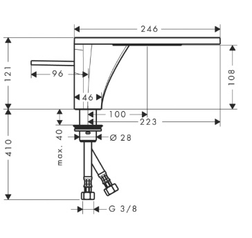 Axor Massaud Jednouchwytowa bateria umywalkowa DN15 CHROM