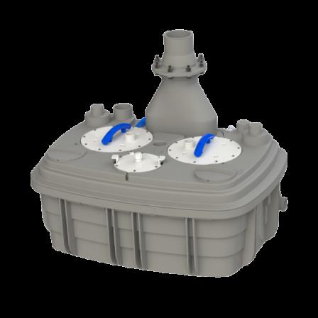 SFA SANICUBIC 2 XL  przepompownia do ścieków szarych i czarnych z 2 pompami typu VORTEX o wolnym przelocie 50 mm