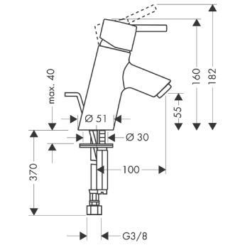 Talis S Jednouchwytowa bateria umywalkowa DN15 CHROM