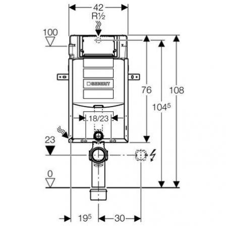GEBERIT Kombifix - element montażowy Super do WC, UP320, Sigma, H108