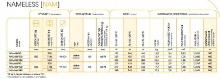 INSTALPROJECT NAMELESS grzejnik łazienkowy 500x1186 mm C33 BLACK STRUCTURE