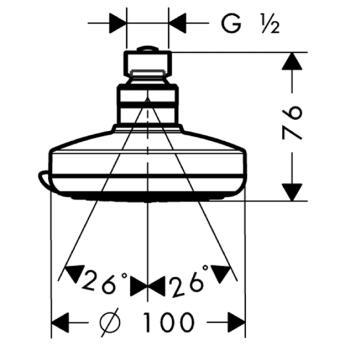 Głowica prysznicowa Croma 100 Vario DN15 chrom