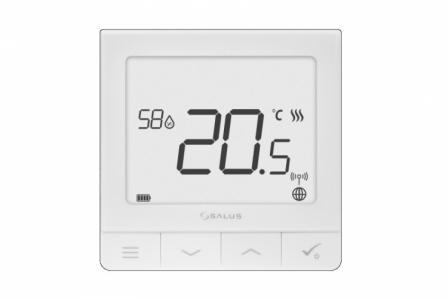 SALUS SQ610RF Ultra-cienki regulator bezprzewodowy  z czujnikiem wilgotności z wbudowanym akumulatorem