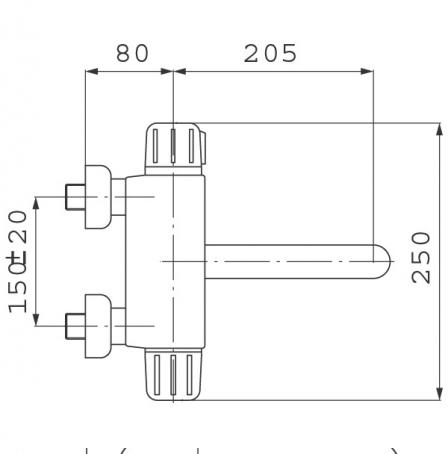 FERRO Bateria zlewozmywakowa ścienna TERMOSTATYCZNA
