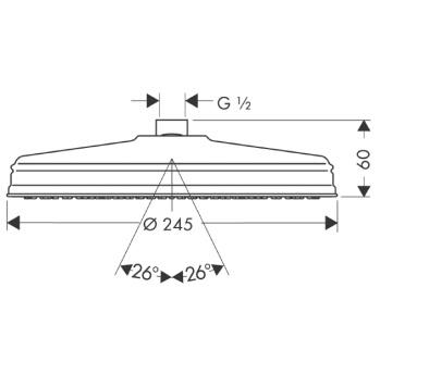 Axor Carlton Głowica talerzowa Ø 240 mm DN15 chrom