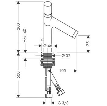 Axor Starck Dwuuchwytowa bateria umywalkowa ze stałą wylewką DN15 CHROM