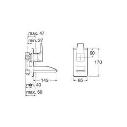 ROCA Jednouchwytowa bateria umywalkowa podtynkowa Thesis