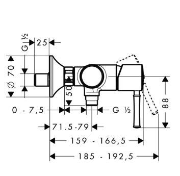 Talis Classic Jednouchwytowa bateria prysznicowa DN15 montaż natynkowy chrom