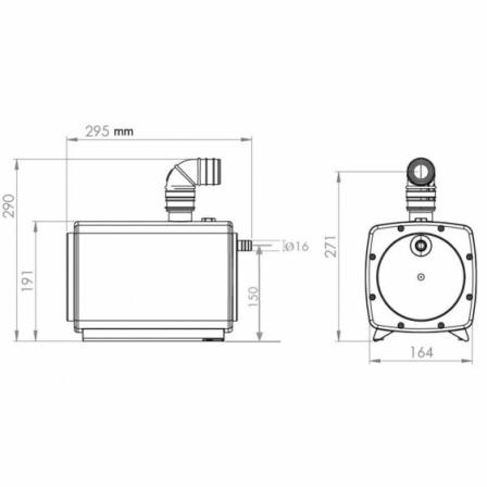 SFA Sanifloor 1 pompa do ścieków szarych