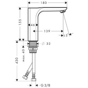 Axor Urquiola Jednouchwytowa bateria umywalkowa bez kompletu odpływowego CHROM
