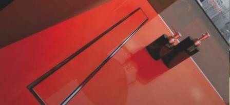 WINKIEL DESIGN odwodnienie liniowe EKOLINE 900 mm z rusztem CONTI do wklejenia płytki