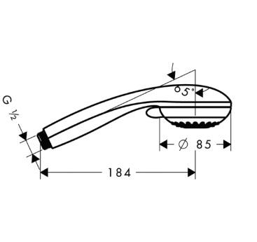 Główka prysznicowa Crometta 85 Multi 3jet DN15 chrom