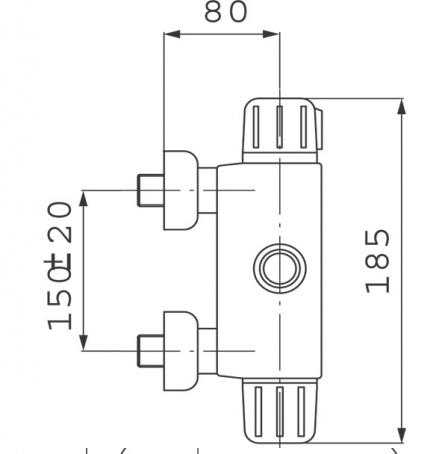 FERRO Bateria natryskowa bez natrysku TERMOSTATYCZNA