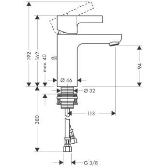 Metris S Jednouchwytowa bateria umywalkowa DN15 CHROM
