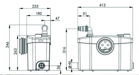 Pompa rozdrabniająca SFA Sanipro Silence WC + 3