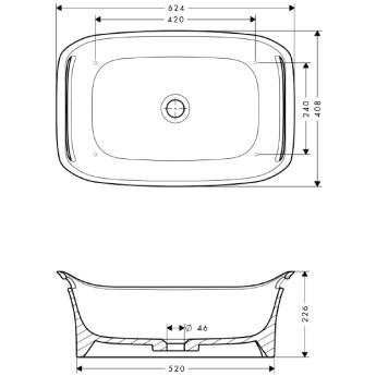 Axor Urquiola Misa umywalkowa 625 mm BIAŁA