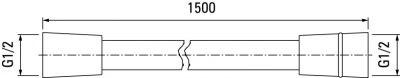 VALVEX BLACK Wąż natryskowy 1,5 M CZARNY