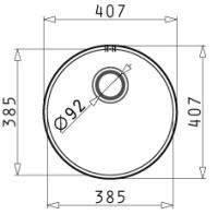 PYRAMIS Komora IRIS (?38,5x15) okrągła