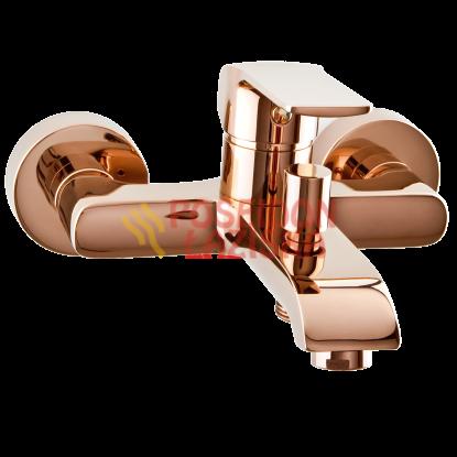 VALVEX ZESTAW AURORA ROSE GOLD bateria umywalkowa, wannowa, zestaw natryskowy