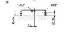 TERMA-GRZEJNIK WARP T 1110x500 Z8 S96