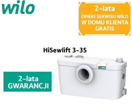WILO HiSewlift 3-35 pompa z rozdrabniaczem do WC + umywalka , prysznic  , bidet , wanna