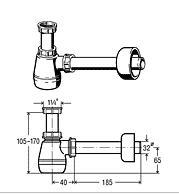 VIEGA Półsyfon bidetowy butelkowy
