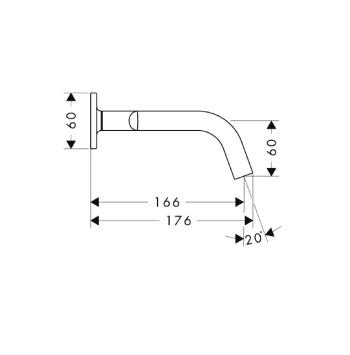 Axor Citterio M Trzyotworowa bateria umywalkowa podtynkowa DN15 z rozetami i krótką wylewką CHROM