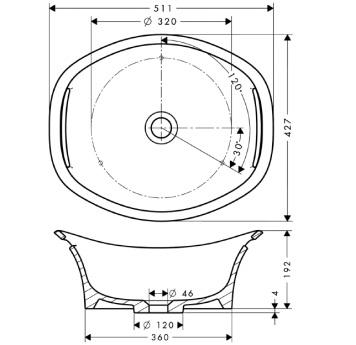 Axor Urquiola Misa umywalkowa 500 mm BIAŁA