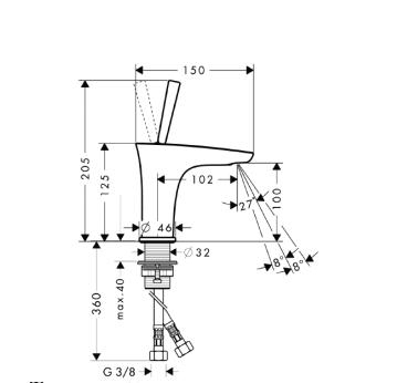 PuraVida Jednouchwytowa bateria umywalkowa do małych umywalek BIAŁY / CHROM