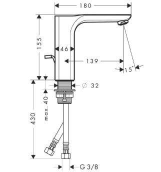 Axor Urquiola Jednouchwytowa bateria umywalkowa CHROM