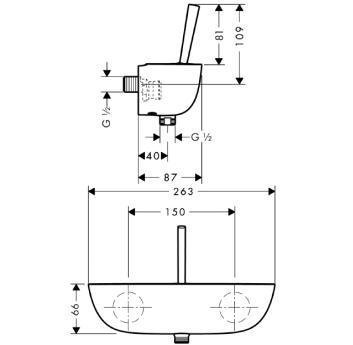 PuraVida Jednouchwytowa bateria prysznicowa DN15, montaż natynkowy chrom biała