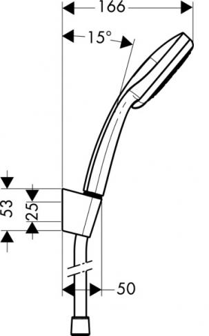 Zestaw prysznicowy Croma 100 Multi/Porter'S chrom