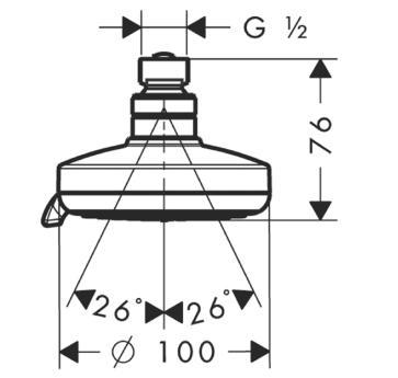 Głowica prysznicowa Croma 100 Multi DN15 chrom