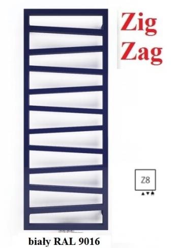 TERMA TECHNOLOGIE Zig Zag 835x500 Z8 GRZEJNIK ŁAZIENKOWY KOLOR BIAŁY 9016